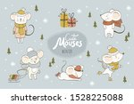 cute mouses cartoon collection. ...   Shutterstock .eps vector #1528225088