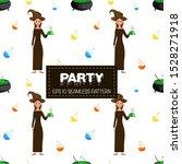 halloween seamless pattern with ... | Shutterstock .eps vector #1528271918