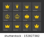 Crown Icons. Vector...