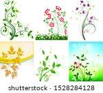 floral flower design nature art ... | Shutterstock .eps vector #1528284128