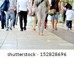 Diversified crowd - stock photo