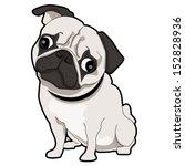 Stock vector pug puppy 152828936