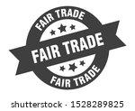 fair trade black ribbon sign.... | Shutterstock .eps vector #1528289825
