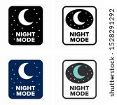 dark night mode  battery saving ... | Shutterstock .eps vector #1528291292