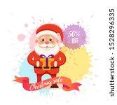 cartoon santa claus for your... | Shutterstock . vector #1528296335