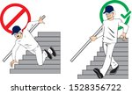 handrail falling stairs worker... | Shutterstock .eps vector #1528356722