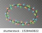 christmas lights oval border... | Shutterstock .eps vector #1528460822