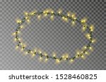 christmas lights oval border... | Shutterstock .eps vector #1528460825