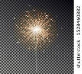 bengal fire. new year sparkler... | Shutterstock .eps vector #1528460882
