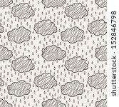 Seamless Pattern With Rainy...
