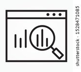 icon statistical data search to ...