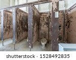 Vintage Wooden Toilet Stalls In ...