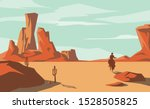 the scene of the wild west and...   Shutterstock .eps vector #1528505825