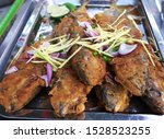 fried fresh water fish topping...