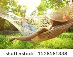 Young Woman With Hat Resting I...