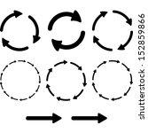arrow pictogram refresh reload... | Shutterstock .eps vector #152859866
