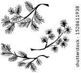 hand drawn conifer tree... | Shutterstock .eps vector #1528611938