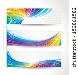 set of celebration colorful... | Shutterstock .eps vector #152861582