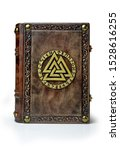Vintage Leather Book With...