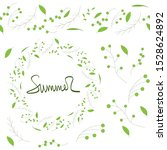 set of green branches for... | Shutterstock .eps vector #1528624892