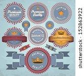 set of badges and labels. eps10. | Shutterstock .eps vector #152863922