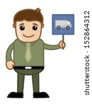 cartoon business character  ... | Shutterstock .eps vector #152864312