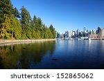 stanley park in vancouver ...   Shutterstock . vector #152865062