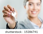 photo of happy woman   s hand... | Shutterstock . vector #15286741