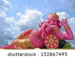 Big Ganesha Statue In Relaxing...