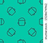 blue line bakery bowl dough...   Shutterstock .eps vector #1528674962