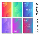 modern abstract covers set.... | Shutterstock .eps vector #1528677635