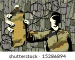 graffiti boy  vector