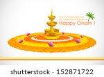 illustration of happy onam... | Shutterstock .eps vector #152871722