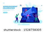 announcement with loudspeaker... | Shutterstock .eps vector #1528758305