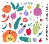 vector kinds of vegetables...   Shutterstock .eps vector #1528761272