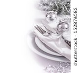 Silver Table Set For New Year