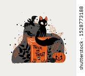 halloween cat theme for october....   Shutterstock .eps vector #1528773188