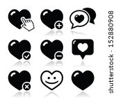 heart  love vector icons set | Shutterstock .eps vector #152880908