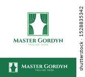 gordyn curtain silk fabric...   Shutterstock .eps vector #1528835342