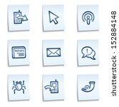 internet web icons set 2  blue... | Shutterstock .eps vector #152884148