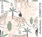 Seamless Pattern With Leopard...