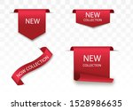 new collection tags. vector... | Shutterstock .eps vector #1528986635