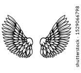 illustration of wings in tattoo ...   Shutterstock . vector #1529066798
