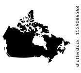 canada map flag vector... | Shutterstock .eps vector #1529086568