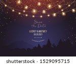 magic night wedding lights... | Shutterstock .eps vector #1529095715