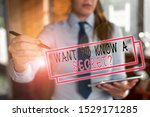 Small photo of Text sign showing Want To Know A Secret Question. Conceptual photo to divulge a confidential vital information Blurred woman in the background pointing with finger in empty space.
