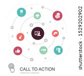 call to action colored circle...
