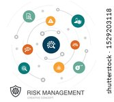 risk management colored circle... | Shutterstock .eps vector #1529203118