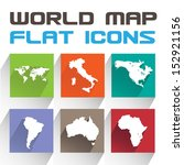 vector application world map...