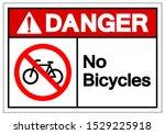 danger no bicycles symbol sign  ... | Shutterstock .eps vector #1529225918